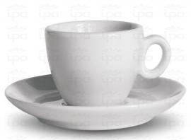 Espresso kop met schotel ALBA wit (set van 6)