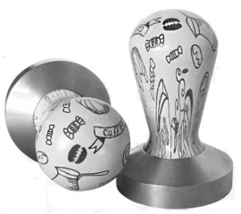 Tamper 58mm Shabby chic