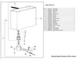 Koppeling collector waterreservoir Rocket