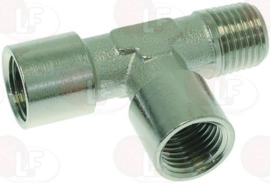 Connector T 1/4M x 2x 1/4F