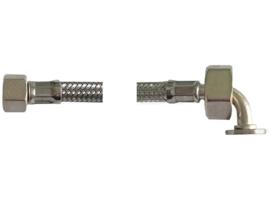 Drukslang gewapend 3/8 x 3/4 haaks 80cm