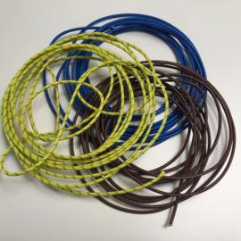 Kabel blauw 2,5 mm glas/silicone 25 cm