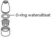 O-ring wateruitlaat