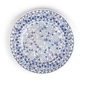 Melamine Plate Indigo Lace