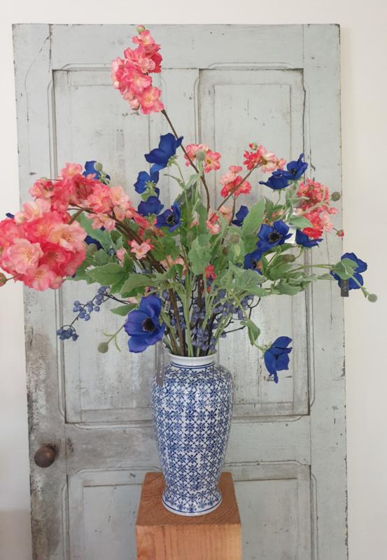 Vaas uniek blauw