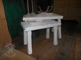 Set van twee tafeltjes/bankjes