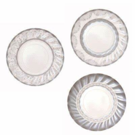 Party Porcelain zilver bordjes