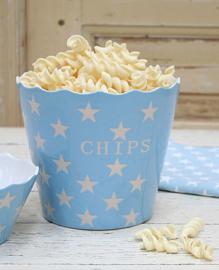 Chips bak blauw