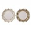 Party Porcelain gold serveerschaal