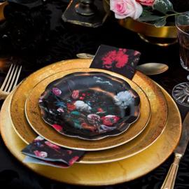 Party Porcelain Baroque mini gebaksbordjes