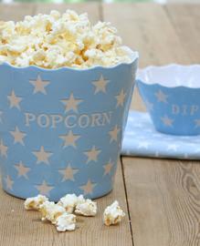 Popcorn bak blauw