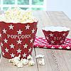 Popcorn bak rood