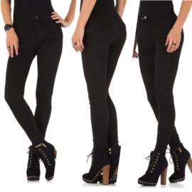 Basic broek Zwart medium wasted