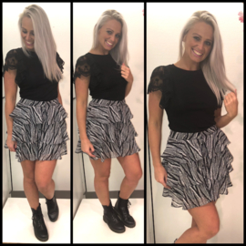 Zebra skirt white