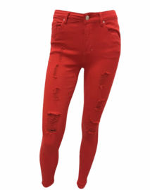 Jeans red lady