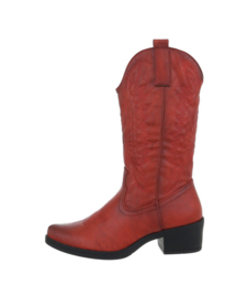 Cowboyboots leatherlook red