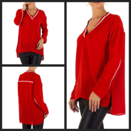 Blouse bies red
