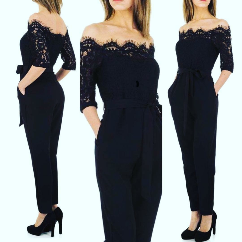 Jumpsuit black kant