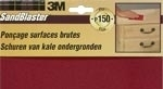 Schuurpapier 3M Sandblaster Paars pak 3 vel Assortie K-100 -120 -150
