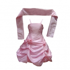 Sevva kleuter feestjurk roze met sjaal ca 2 tot 2,5 jaar