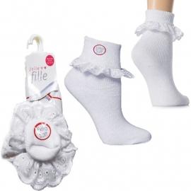 Jolie Fille superzachte sokjes met katoenen kant