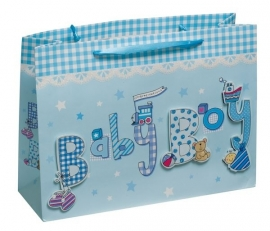 3D cadeau tas blauw
