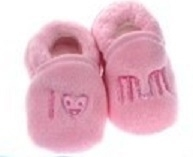 Soft Touch baby slofje I love mum roze