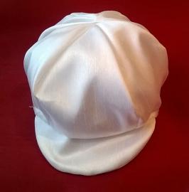Doopromper / dooppakje Jamie wit met cap / feestpak voor jongetjes maat 0 - 6 mnd. (mt 56/74)