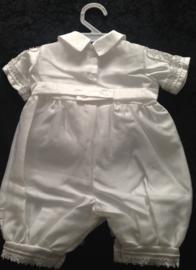 EXCLUSIEF Baby dooppakje / doopromper wit 0 - 6 mnd (mt 56 / 68)