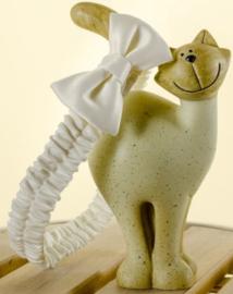 Sevva mouwloze baby feestjurk doopjurk met haarband wit met zilver