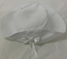 Doopjurk / baby gelegenheidsjurk met mantel en hoedje in wit satijn 6 - 9 mnd