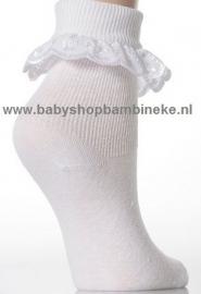 Jolie Fille superzachte baby sokjes met katoenen kant