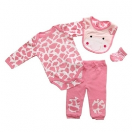 Rock a Bye Baby 4-delig baby setje Giraf 6 - 9 mnd  RESTANT VERKOOP