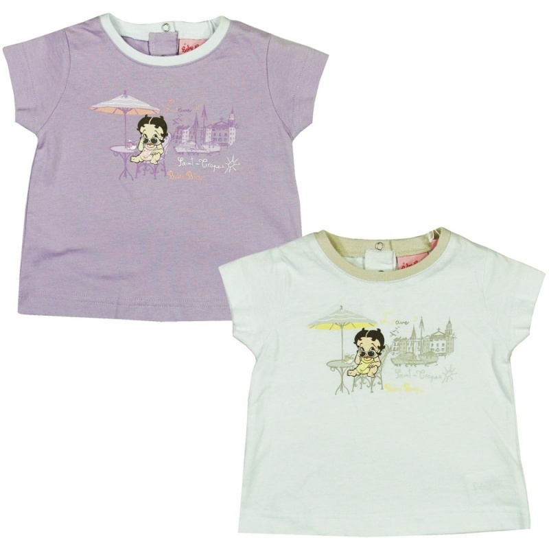 Betty Boop baby t-shirt lila  RESTANT VERKOOP