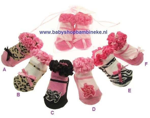Babysokjes in balletschoentjes model van Soft Touch
