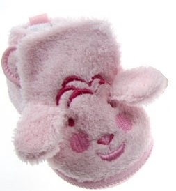 Soft Touch puppy baby slofje roze