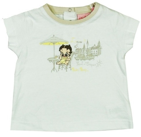 Betty Boop baby t-shirt wit RESTANT VERKOOP