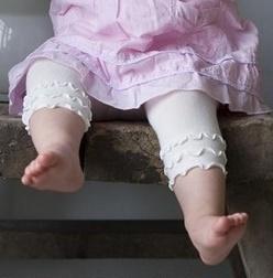 Bonnie Doon baby legging wit met ruches