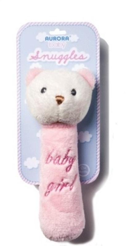 Aurora teddy rammelaar Snuggles - roze