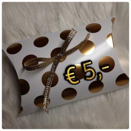 Cadeaubon € 5,-