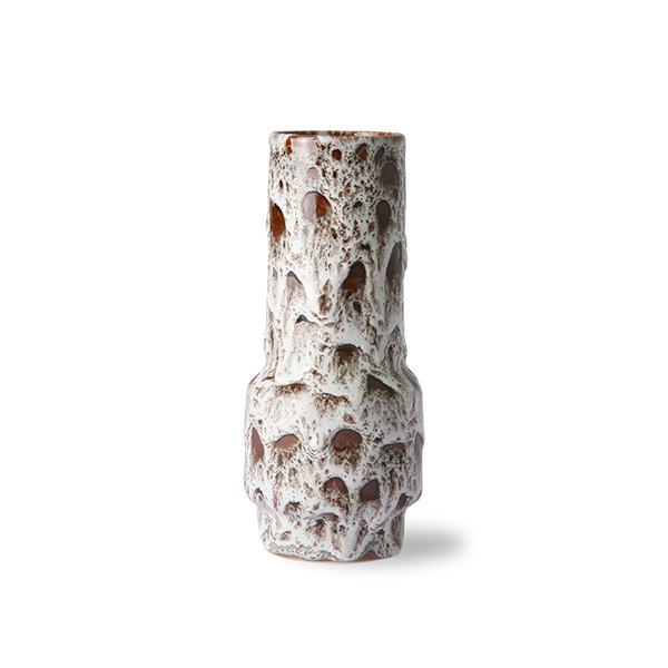 ceramic retro vase lava white