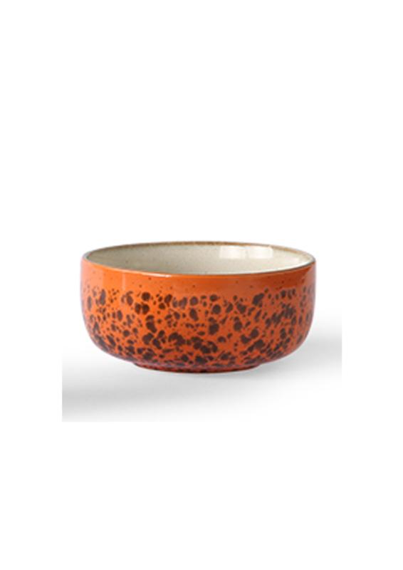 70's dessert bowl  orange