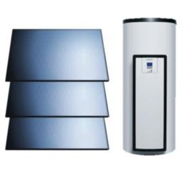 Vaillant AuroStep Plus  350 Duo + 3 horizontale zonnepanelen