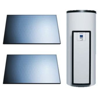 Vaillant AuroStep Plus  250 Duo + 2 horizontale zonnepanelen
