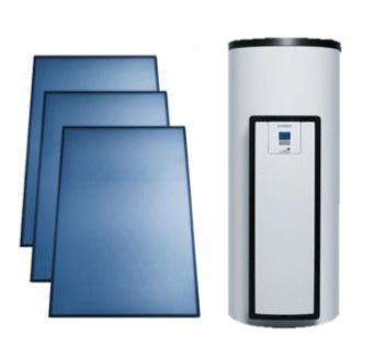 Vaillant AuroStep Plus 350 Duo + 3 verticale zonnepanelen