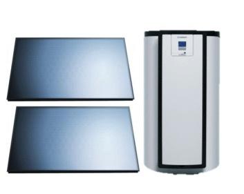 Vaillant AuroStep Plus 150 Mono + 2 horizontale zonnepanelen