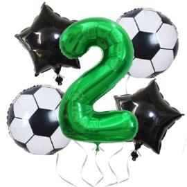 Voetbal  Ballonnen Set Cijfer 2