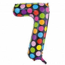 Confetti Cijfer Folie Ballonnen Nummer 7