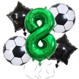 Voetbal  Ballonnen Set Cijfer  8