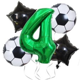 Voetbal  Ballonnen Set Cijfer 4